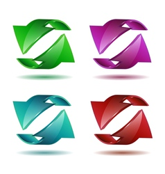 Set of arrow stickers vector image vector image