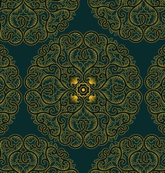 asia circle pattern in retro style vector image vector image