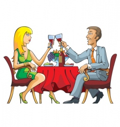 dating couple vector image vector image