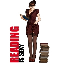 reading is sexy vector image vector image