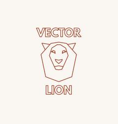 linear lion symbol vector image vector image