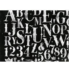 vintage gothic alphabet chalk vector image vector image
