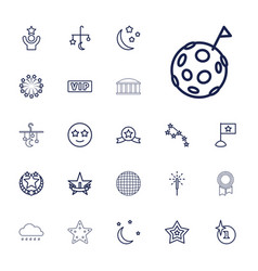 22 star icons vector