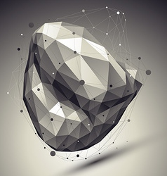 Abstract deformed undertone asymmetric object with vector