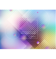 Abstract geometric shapes on blurred colors vector