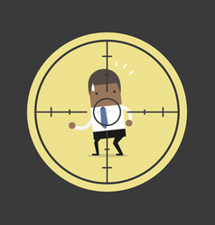 african businessman in crosshairs vector image