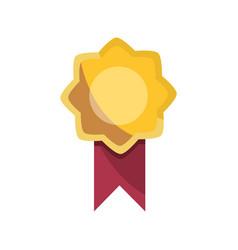 Award rosette certificate success online education vector