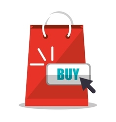 Bag and shopping online design vector