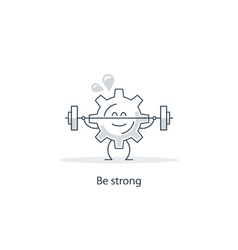Be strong mind your health vector image
