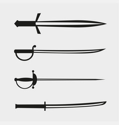 Bladed weapons set vector