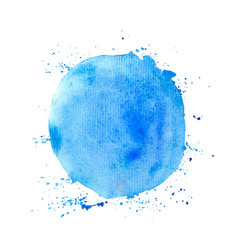 blue round watercolor texture vector image