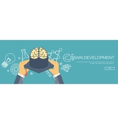Brains and academic cap vector