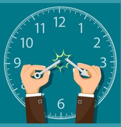 Break arrow of clock vector