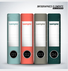 business folders inforgraphics elements vector image