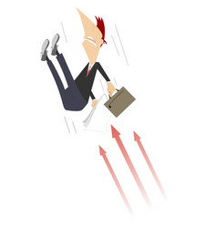 businessman and arrow signs concept vector image
