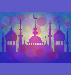 card for greeting with islam feasts vector image