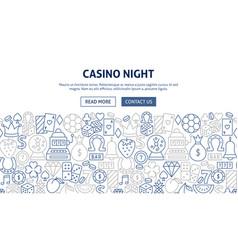 casino night banner design vector image