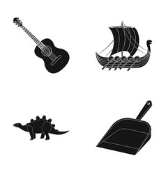 Cleaning history and or web icon in black style vector
