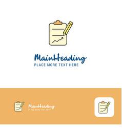 creative clipboard logo design flat color logo vector image