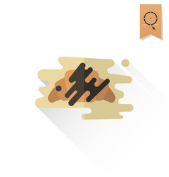 croissant with chocolate vector image