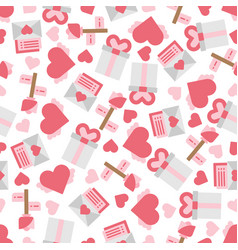 cute objects and elements in seamless patterns vector image