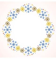 Cute snowflakes Christmas frame vector