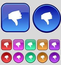 Dislike Thumb down icon sign A set of twelve vector
