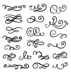 divider swirl and curl set vector image