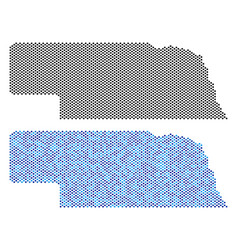 Dotted nebraska state map abstractions vector