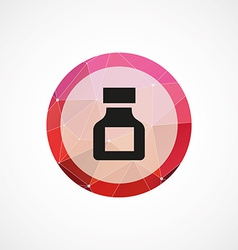 Drugs circle pink triangle background icon vector