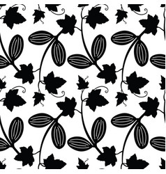 ecballium decorative floral seamless pattern vector image