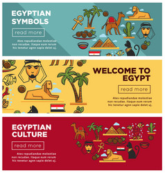 egyptian symbols and culture promotional internet vector image