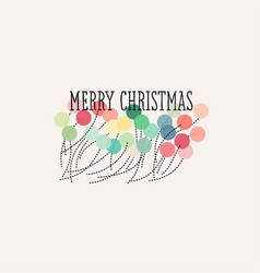 elegant christmas card with pastel pom poms vector image