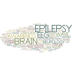 Epilepsy word cloud concept vector