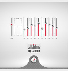 equalizer for media player vector image