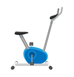 exercise bike or orbitrek isolated on white vector image