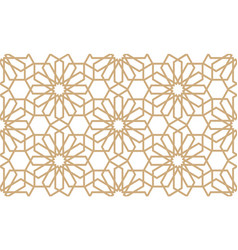 Geometrical seamless pattern in arabian style vector