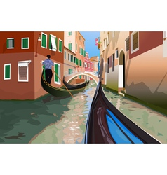 Gondola trip vector