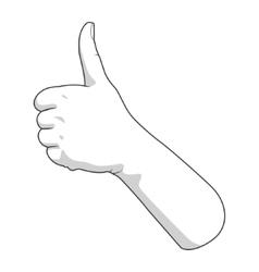 Hand gesture good vector