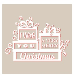 I wish you a very Merry Christmas vector image