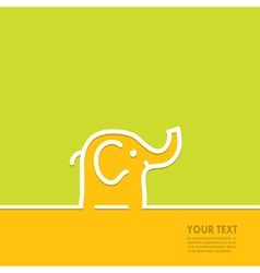 Line in the form of an elephant vector image