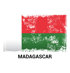madagascar flag design vector image