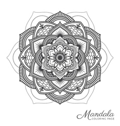 mandala decorative ornament design vector image