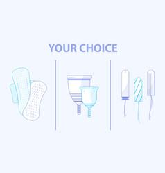 Menstruation theme background choose between vector