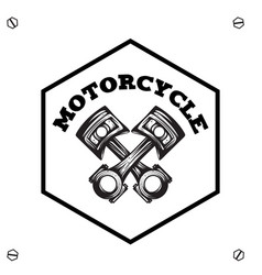 motorcycle text hexagon background image vector image