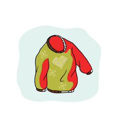 Nordic christmas jumper clipart hand drawn vector