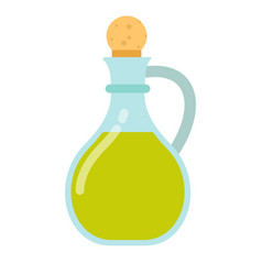 olive oil in a glass jar flat isolated vector image