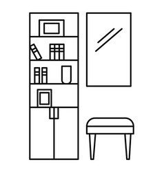 read room icon outline style vector image