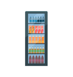 Refrigerator soda and fizzy drinks isolated vector