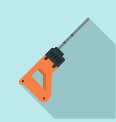 rock drill icon flat style vector image